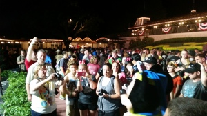 Thousands of fans waiting to be the first into the Magic Kingdom at Walt Disney World Orlando